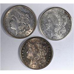 3 AU MORGAN DOLLARS:  1921-P, 1921-D &