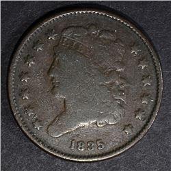 1835 HALF CENT  VG+