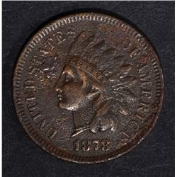1878 INDIAN HEAD CENT  F/VF