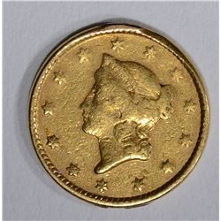 1851 $1.00 GOLD  XF