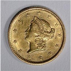 1852 $1.00 GOLD  AU