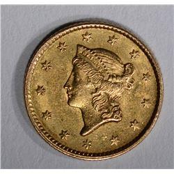 1853 $1.00 GOLD  AU