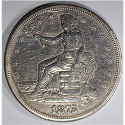 1875-S TRADE DOLLAR  XF