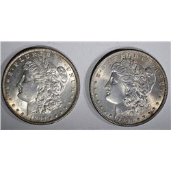 1897 BU & 1896 BU MORGAN DOLLARS
