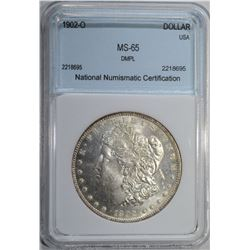 1902-O MORGAN DOLLAR NNC GEM BU DMPL