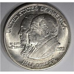 1923-S MONROE COMMEM HALF DOLLAR  CH BU