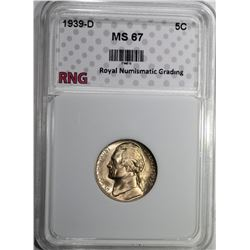 1939-D JEFFERSON NICKEL RNG SUPERB GEM