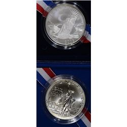 1986 LIBERTY & 2008 BALD EAGLE UNC COMMEM DOLLARS