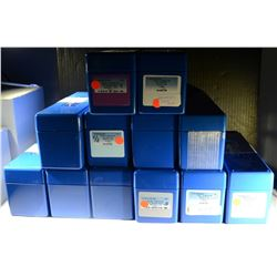 12-USED PCGS BLUE PLASTIC SLABBED COIN BOXES