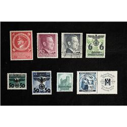 Hitler Stamps Around 1930-1940.A total of 9 pieces