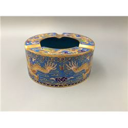 A Middle 20th Century Cloisonne Enamel Ashtray