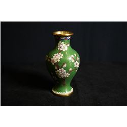 An Early 20th Century Small Cloisonne Enamel  Floral  Meiping