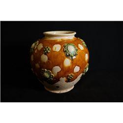 """A large """"Tang San Cai"""" jar"""