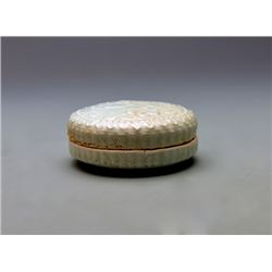 Celadon-glazed round Box and Cover with Flower; Song Dynasty