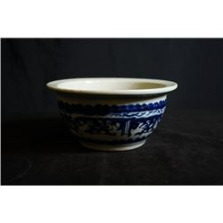 Late Qing Dynasty Blue and White Censer