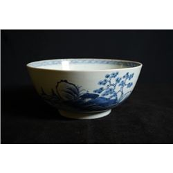 A Large Blue and White Bowl. Sold By Chriestie's #2754. On Monday January 3, 1752, the Dutch East In