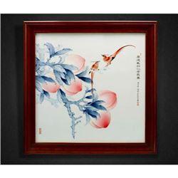 """""""Hou De Zai Wu Ren Zhe Chang Shou"""" Blue and White Porcelain Plaque with Certification. Artist: Tian,"""