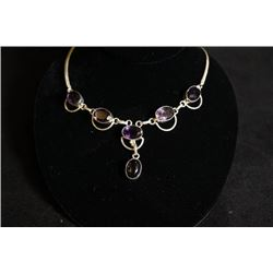 A amethyst+925 silver neckless