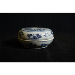 Ming Dynasty, Blue-and-White Porcelain sea fishing box