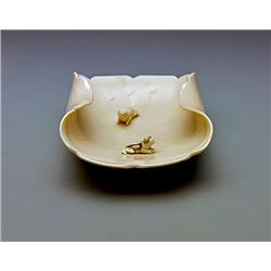 "A Song Dynasty(AD 960-1279) ""Ding"" kiln ""Two Frogs with leaves"" Brush Washer"