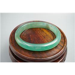 A Class Burma Jade (Jadeite) Bangle of Noble Consort