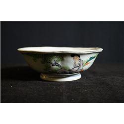 "Republican era, ""Mei Ren Ru Yu"" bowl, small crack on the bottom"