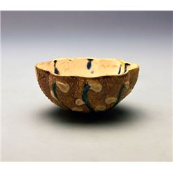 """A """"Tang Sancai""""  Wine Cup in Oval Shape; Tang Dynasty"""