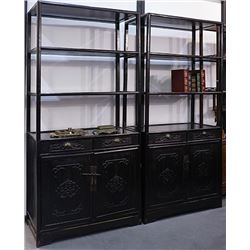 A Pair of Two Early 20th Century Old Rosewood Two-door Cabinet