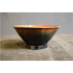 UK famous art ceramics band - Moorcroft, a brown conical cup, made in England