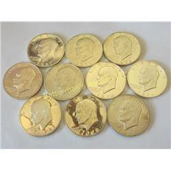 10 Gem Proof Uncirculated Ike Dollars