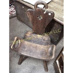 Primitive Carved Chair