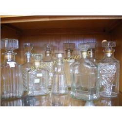 Lot of Liquor Decanters
