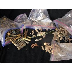 Lot  of Gun Shells, Casings, Parts and Artifacts