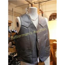 Leather Motorcycling Vest