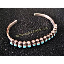 Sterling and Turquoise Indian Bracelet