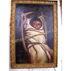 Baby in Paboose Painting
