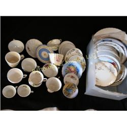 Lot Mixed China Cups and Saucers