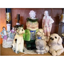Lot of 7 Ceramic Figures and Lights