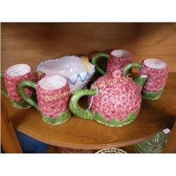 50s-look Italian Floral Ceramic Tea Service