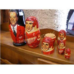 Russian Nesting Dolls ~ Tsar and Hockey Team