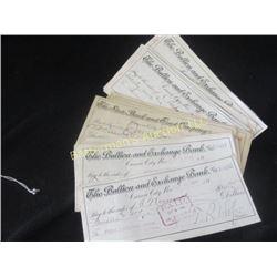 Lot of 25 1800's Carson City Bank Checks