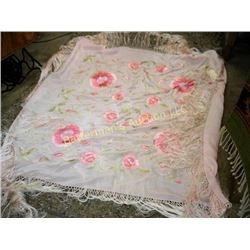 Vintage Silk Embroidered Piano Cover