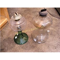 Pair Vintage Kerosene Lamps
