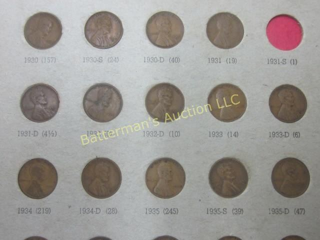 Wheat Penny Collection 110 Coins