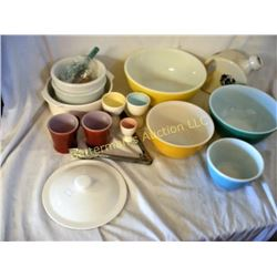 Pyrex and Pottery Lot