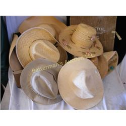 Lot of Straw and Felt Hats