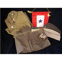 WWII Army Uniform and Pins