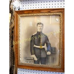 Antique Soldier print ~ Hand-tinted