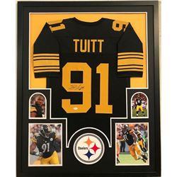 46360b87a5c Stephon Tuitt Signed Steelers 34x42 Custom Framed Jersey (JSA COA)