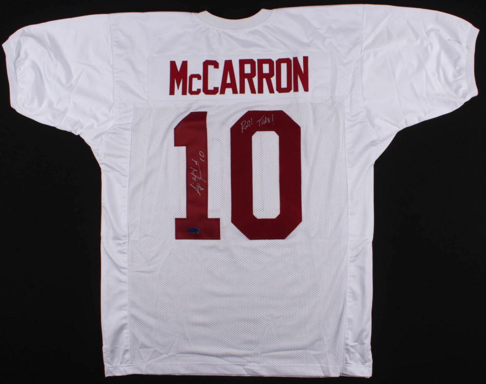 los angeles c4ef3 092a9 AJ McCarron Signed Alabama Crimson Tide Jersey Inscribed ...
